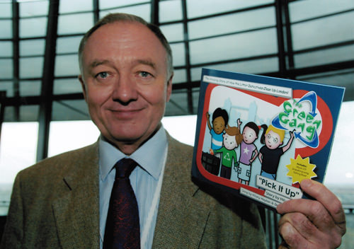 Ken Livingstone, Mayor of London, at the launch of Pick it up!
