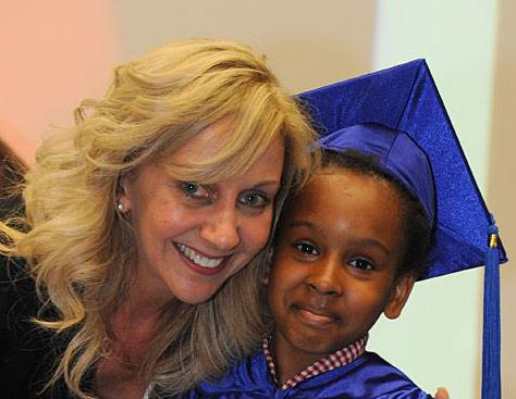 Hilary Robinson at the Children's University graduation.