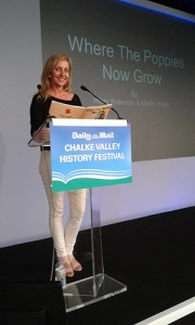 Hilary Robinson at Chalke Valley History Festival, 2014