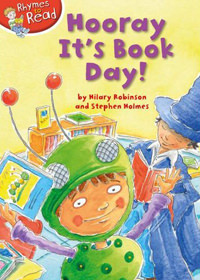 front cover of Hooray! It's Book Day! by Hilary Robinson