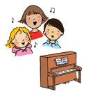 Illustration of children singing