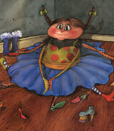 Illustration from Sarah the Spider