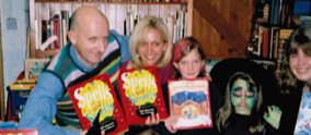 Nick Sharratt and Hilary Robinson at the book launch of Spells and Smells