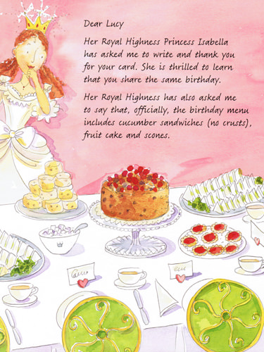 Illustration from The Princess's Secret Letters